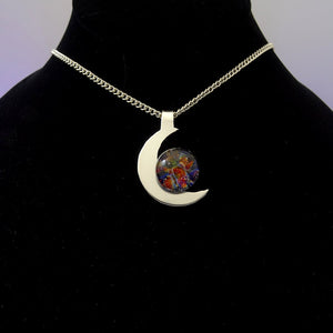 Memorial Cremation Pendant Crescent Moon