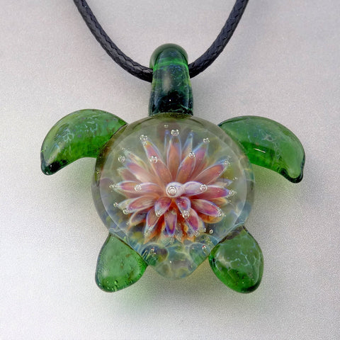 Sea Turtle Pendant Anemone Back