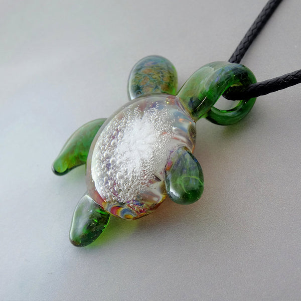 Sea Turtle Blown Glass Pendant Just Hangin Out