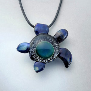 Blown Glass Sea Turtle Pendant