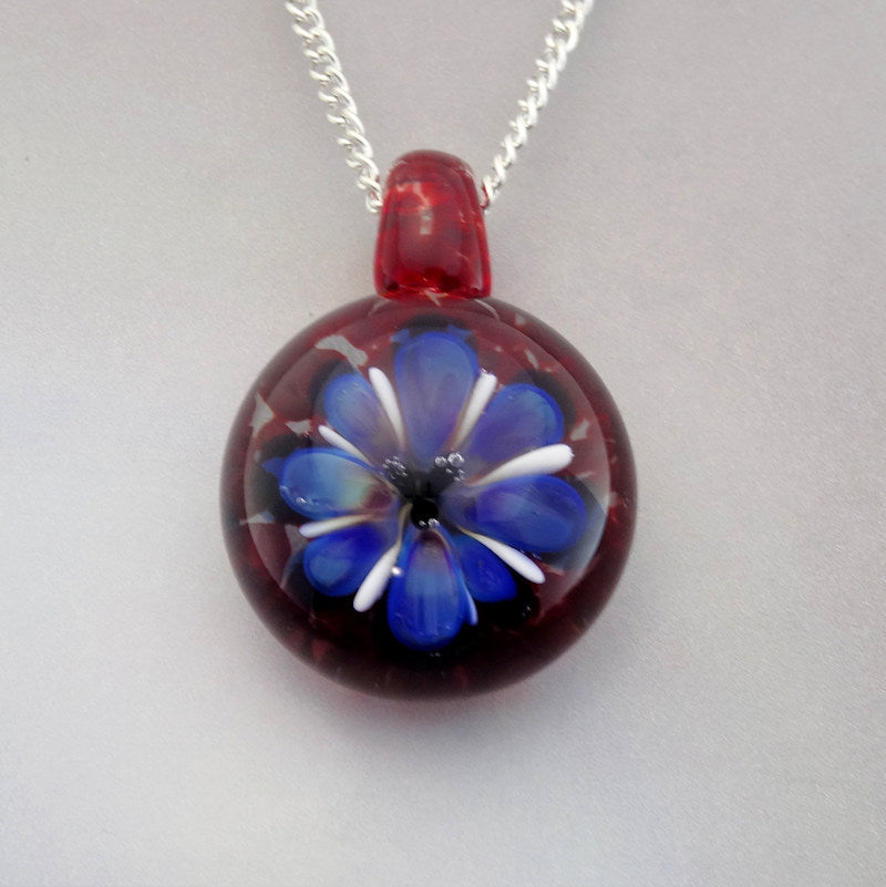 Flower Pendant Blown Glass