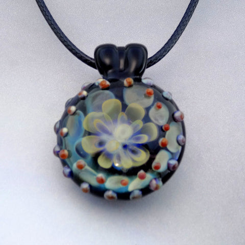 Silver and Gold Fumed Implosion Pendant