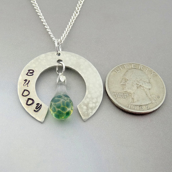 Cremations Memorial Hand Blown Glass Pendant