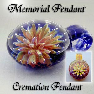 Memorial Cremation Pendant Floral Implosion