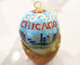 Chicago Scene Cloisonné Christmas Ornament - Kitty Keller Designs