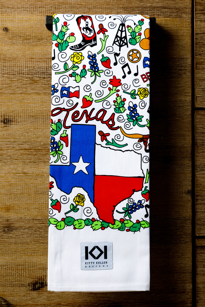 It's Texas, Y'all 100% Cotton Tea Towel - Kitty Keller Designs
