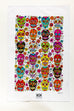 Dia de los Sugar Skulls 100% Cotton Tea Towel - Kitty Keller Designs