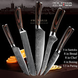 "XITUO High quality 8""inch Utility Chef Knives laser Damascus steel Santoku kitchen Knives Sharp Cleaver Slicing Gift Knife"