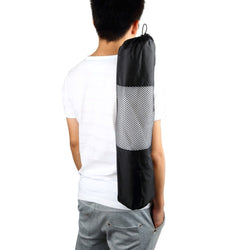 Portable Yoga Mat Bag Polyester Nylon Mesh black backpack for health sports