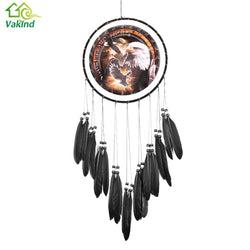 Indian Dreamcatcher Oil Painting Glede Dream Catcher Feather Bead For Car Home Wall Hanging Ornament Decoration