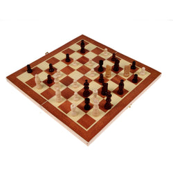 Wooden Chess Set with Board Storage Box Game