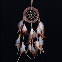 Home decor Rattan Dream Catcher with Feathers Rome Wall Hanging Decoration Ornament Brand