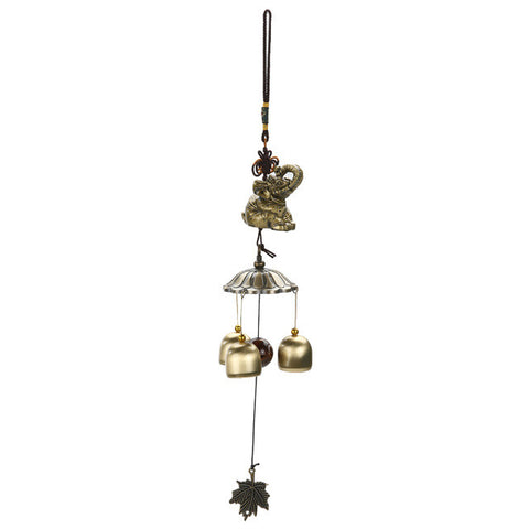 National Style Chinese Lucky Carillon De Jardin Wind Bell Outdoor Living Wind Chimes Yard Garden Tubes Bells 3 Copper Bells