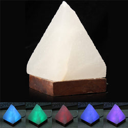 Himalayan Crystal Rock Led Salt Lamp USB Air Purifier Pyramid Energize Ionized Salt Light Desk Table Lamp Night Light Decoration