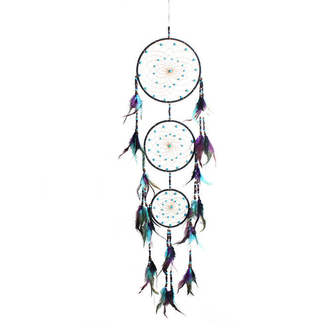 Big Dreamcatcher with Feather Polycyclic Dream Catcher Wall Hanging Decoration Pendant Home Decor Ornament