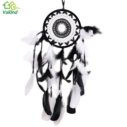 Indian Style Handmade Dreamcatcher Black with White Lace Dream Catcher Flower Design