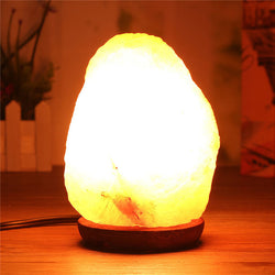 Salt Lamp Light Bulb Himalayan Natural Crystal Rock Mineral Rock Air Purifier Night Light Table Desk Lamp Home Decor AC110V