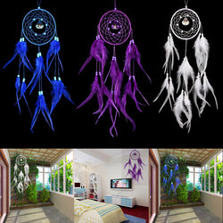 Handmade Dream Catcher With Feathers Wall Hanging Decoration