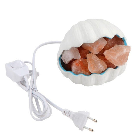 Pretty Shell Shaped natural crystal salt lamp Himalayan salt lamps Light Improving the Air Quantity for your Bedroom baby Room
