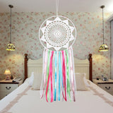 White Lace Flower Dream Catcher Handmade Dreamcatcher with Tassel