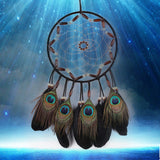 Black Feather Bead Handmade Dream Catcher Wall Hanging Decoration Ornaments Dreamcatcher