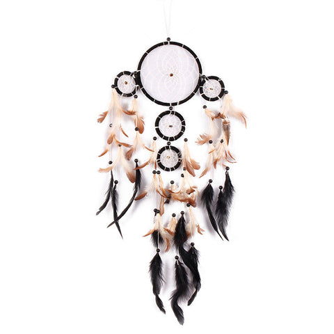 Black Feather Dreamcatcher Handmade Dream Catcher Wall Hanging Decoration Ornaments