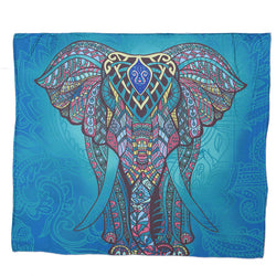 Elephant Tapestry Colored Printed Decorative Mandala Indian Tablecloth/ Towel 130cmx150cm 153cmx203cm Boho Wall Carpet