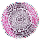Rainbow Tassel Peacock Series Mandalas tablecloth Totem Lotus Wall Hanging Sandy Beach Towels Blanket Camping Mattress