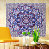 Vanitas Mandala Wall Hanging Moroccan Indian Printed Decorative Wall Tapestries Tablecloth 144x142cm
