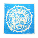 Dorp Shipping Elephant Tapestry Round Mandala Indian Hippie Boho Wall Hanging Beach Throw Towel Mat Blanket with Tassels