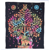 Indian Elephant Mandala Tablecloth Throw Hippie Tablecloth Hanging Printed Decorative Wall Tapestries 203X153Cm
