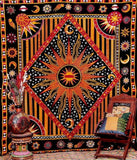 Sun Mandala Tablecloth Wall Hanging Multifunctional Blanket Tablecloth Printed Bedspread Cover Picnic Cloth Indian Elephant
