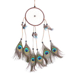 India Style Handmade Dream Catcher Net With feathers Car Window Wall Hanging Decoration Decor Craft Ornament Gift