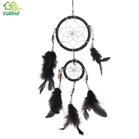 5 Color White Conch Dream Catcher With Feathers Window/Car/ Wall Hanging Decoration Ornament