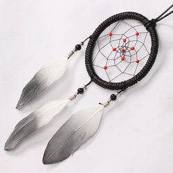 Russian Style Handmade  Car Black Dream Catcher With Feathers