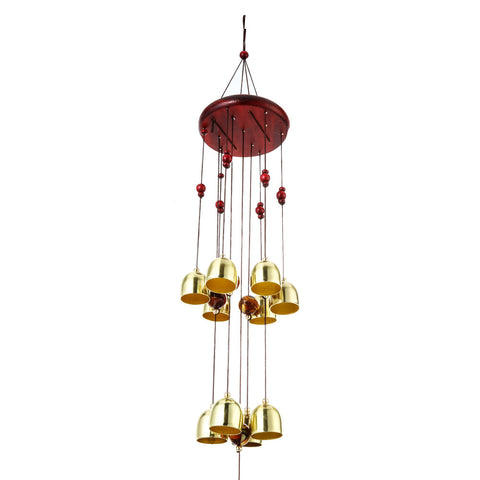 Russian Style Amazing Metal Craft Outdoor Living Wind Chimes Yard Garden Tubes Bells Copper 10 Bells Home Decor