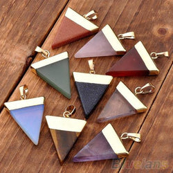 Crystal Quartz Pyramid Healing Point Reiki Chakra Pendants For Necklace