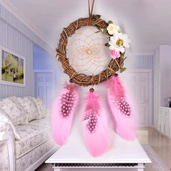 Vintage Dream Catcher Handmade Rattan Feathers Wall