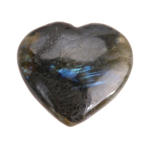 Heart Shape Labradorite Gemstone Pendant Semi Gem Jewelry Gift Polished Reiki Healing Natural Stones and Minerals