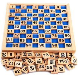 Montessori Mathematics Material Learning Wooden Educational Number 1 to 100 Entertainment Board Game