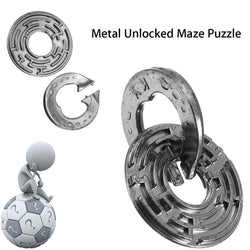 Metal Unlocked Maze Puzzle Labyrinth IQ Mind Brain Teaser
