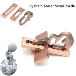 Vintage Metal Puzzle IQ Mind Brain Teaser Educational Toy Gift
