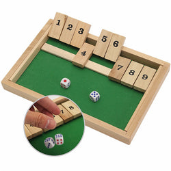 Wooden Box Traditional Pub Board Dice Math Game