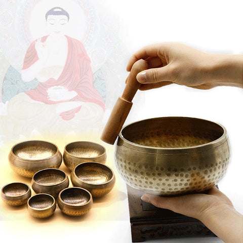 Hand Hammered Tibetan Buddhism Singing Bowl