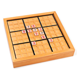 Wooden Sudoku Logic Number Board Game for Logical Thinking