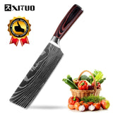 "XITUO 8"" Professional Chef Kitchen Knife Razor Sharp Stainless Steel Slice Cleaver Laser Damascus Pattern Vegetable Santoku Tool"