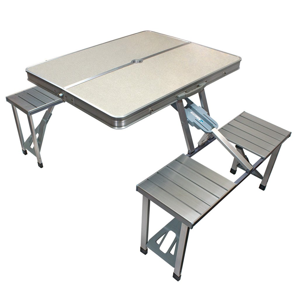 Picture of: Foldable Picnic Table A Table That Unfolds From Portable Carry Case Innovative Edge Design
