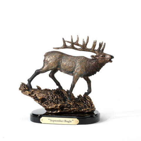 September Bugle Elk Mini Sculpture - Spirit of the West Rustic Decor