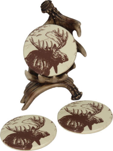 Moose Antler Beverage Coaster Set