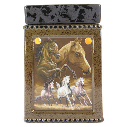 Tall Ceramic Running Horse Electric Candle Warmer